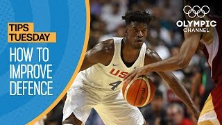 """Five-time Olympian Teresa Edwards stresses the fundamentals of basketball defence through footwork and body position.Learn how to improve your game from the best athletes in the world with """"Olympians' Tips"""": http://bit.do/HowToENSubscribe to the Olympic Channel here: http://bit.ly/1dn6AV5"""