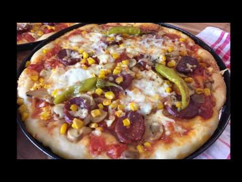 leckere, selbstgemachte Pizza I Sucuk Pizza I EssenszeitMitZeynep