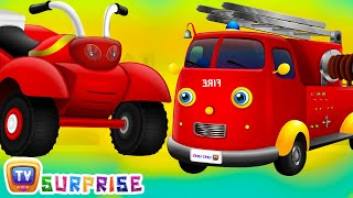 Surprise Eggs UTILITY Vehicles Toys | Learn, Teach UTILITY Vehicles for Kids | ChuChuTV Egg Surprise