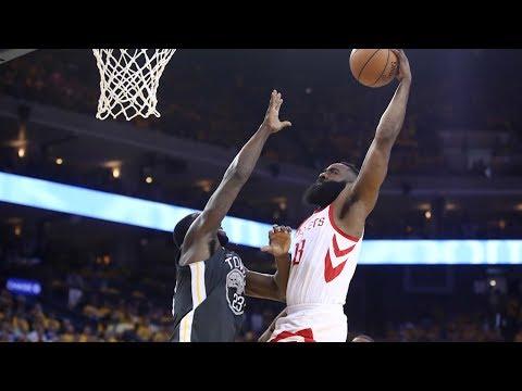 James Harden Dunks on Draymond Green - Game 4   Rockets vs Warriors   2018 NBA West Finals (видео)