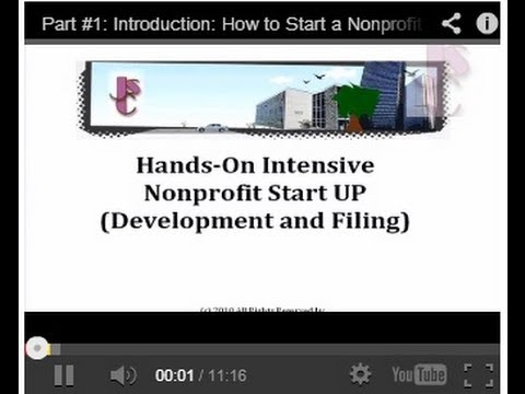 Part #11: Internal Revenue Service 1023 Application: How to Start a Nonprofit Organization