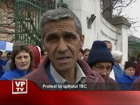 Protest la spitalul TBC