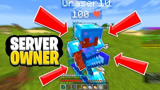 Minecraft UHC but it's against the server owner..