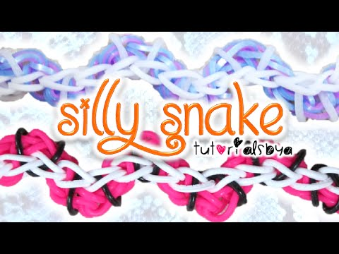 NEW Silly Snake Rainbow Loom Bracelet Tutorial | How To