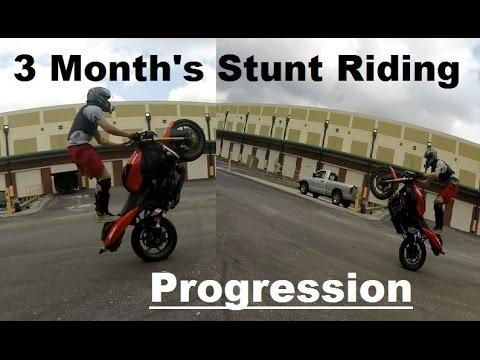 Stunt Riding Progress - 3 Month's