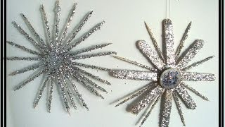 TOOTHPICK STARBURST, HOLIDAY ORNAMENT, diy, christmas ornament, recycle - YouTube
