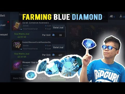 FARMING BLUE DIAMOND BIAR NTAR DIKIRA SULTAN! -  LINEAGE2 REVOLUTION INDONESIA