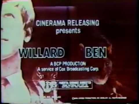 BEN/WILLARD - (1971) TV Trailer *DOUBLE BILL*