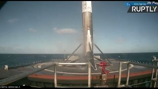 SpaceX launch: Falcon9 successfully lands on drone ship in the Pacific (Streamed live)