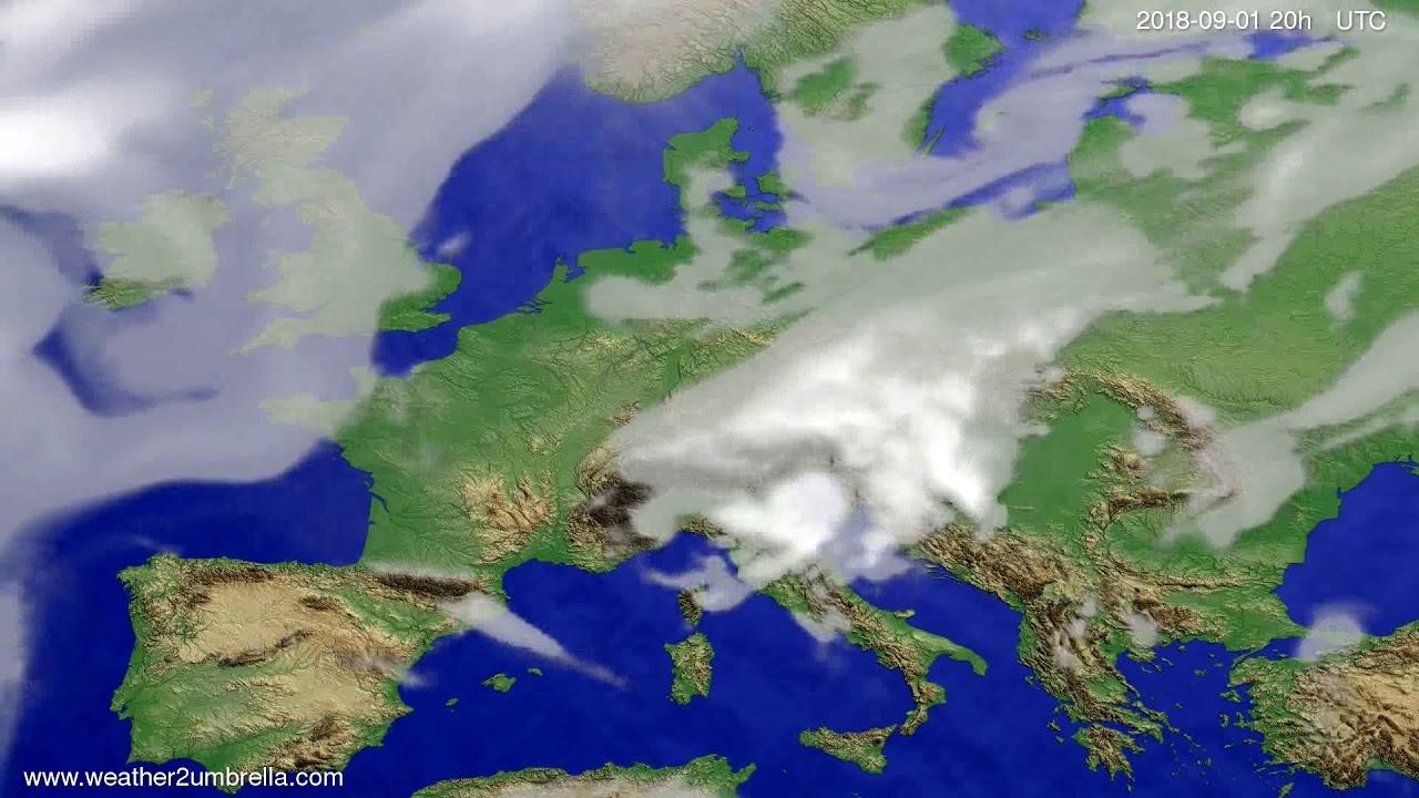Cloud forecast Europe 2018-08-30