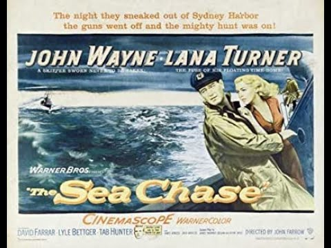 THE SEA CHASE (1955) Theatrical Trailer - John Wayne, Lana Turner, David Farrar