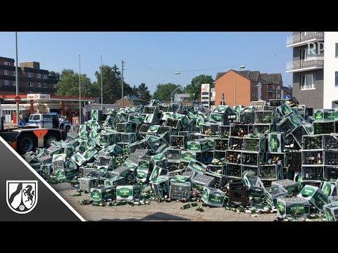 Ladung verloren: Tausende Bierflaschen sorgen in Wesel  ...