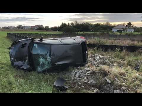 Wideo1: Wypadek na trasie Gołanice - Święciechowa