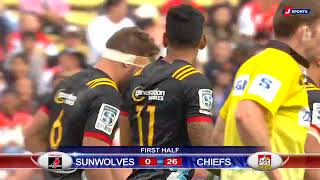 Sunwolves v Chiefs Rd.6 2018 Super Rugby video highlights