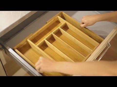 Besteckkasten verstellbar aus Bambus