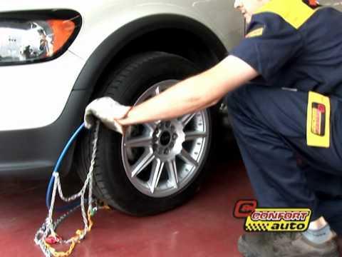 comment installer pneu neige