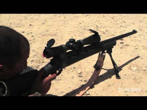 M24 - 5/8/2012 - Marine Scout Snipers from Weapons Company 2nd Battalion 6th Marines, conduct a week long class to sharpen Afghan soldiers' marksmanship with the M...