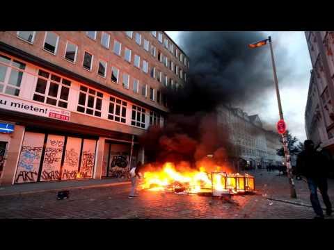 G20-Gipfel in Hamburg - Wieder Ausschreitungen auf St.P ...