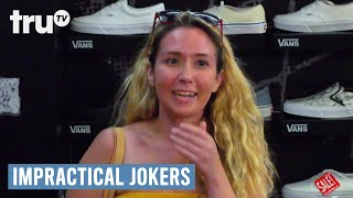 Sal shares secrets with strangers at the shoe store.SUBSCRIBE to get the latest truTV content: http://bit.ly/truTVSubscribeCheck out videos from Impractical Jokers: http://bit.ly/IJTruTVCheck out videos from Billy On The Street: http://bit.ly/BillyOnTheStreetCheck out videos from Adam Ruins Everything: http://bit.ly/ARETruTVCheck out videos from The Carbonaro Effect: http://bit.ly/TheCarbonaroEffectCheck out videos from Comedy Knockout: http://bit.ly/ComedyKnockoutCheck out videos from Hack My Life: Inside Hacks: http://bit.ly/HackMyLifeCheck out videos from Talk Show The Game Show: http://bit.ly/TalkShowTheGameShowCheck out videos from Upscale with Prentice Penny: http://bit.ly/UpscaleWithPrenticePennySee more from truTV: http://bit.ly/FunnyBecauseItsTRULike truTV on Facebook: http://bit.ly/truTVFacebookFollow truTV on Twitter: http://bit.ly/truTVTweetsFollow truTV on Instagram: http://bit.ly/truTVInstaAbout Impractical Jokers:If laughter is contagious, these guys should be quarantined! Q, Sal, Joe and Murr have entertained each other for years with the most hilarious practical jokes they could imagine. Now these real-life best friends are challenging each other to the most outrageous dares and uproarious stunts ever to be caught on hidden camera.About truTV:Seen across multiple platforms in 90 million households, truTV delivers a fresh and unexpected take on comedy with such popular original series as Impractical Jokers, Billy on the Street, The Carbonaro Effect, Adam Ruins Everything, Hack My Life and Fameless, as well as the original scripted comedy Those Who Can't. The fun doesn't stop there. truTV is also a partner in airing the NCAA Division I Men's Basketball Championship.Impractical Jokers: Inside Jokes - Sal's Shoe Fetish  truTVhttp://bit.ly/truTVSubscribe