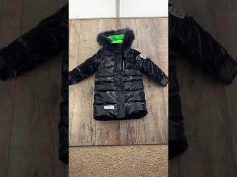 Зимняя блестящая куртка на пуху видео
