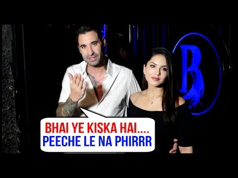 Sunny Leone Takes Daniel Weber Over A Dinner On Hi