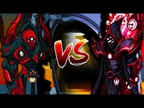 Void Highlord vs ShadowStalker of Time - Soloing (AQW Class Comparison)