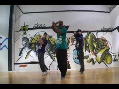 Вариация Popping и Hip-Hop (LA style)