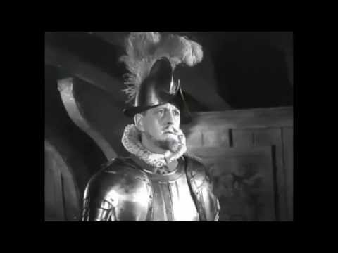 "Hilarious Laurence Olivier Scene From ""Fire Over England"" - ""Enemies Now!"""