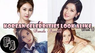 2015 Korean Celebrities Look Alike (Female - Female)
