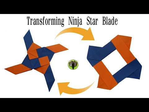 Ninja Star Blades Paperfolds Origami Arts And Crafts