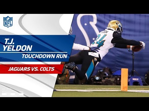 Video: T.J. Yeldon's 58-Yd Diving TD Caps Off Huge Drive vs. Indy! | Jags vs. Colts | NFL Wk 7 Highlights