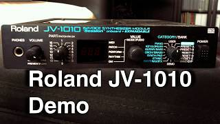 This is the last of a series of gear that I'm intending to sell. In this case, I'm demonstrating my Roland JV-1010 synth module, which ...