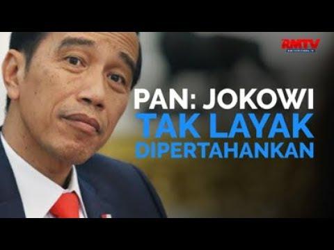 PAN: Jokowi Tak Layak Dipertahankan