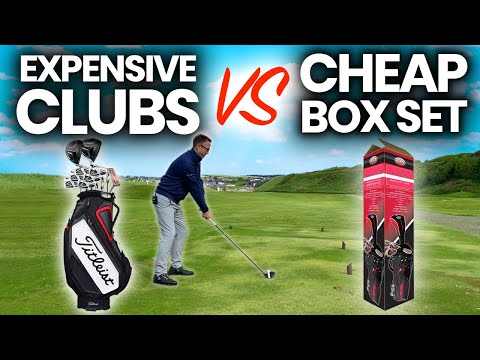 EXPENSIVE GOLF CLUBS VS CHEAP BOX SET GOLF CLUBS - SHOCKING OUTCOME