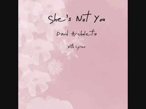 She's Not You - David Archuleta  with Lyrics (LEAKED FROM HIS NEW ALBUM)
