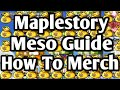 Maplestory Meso Guide Part 2 - How To Merch