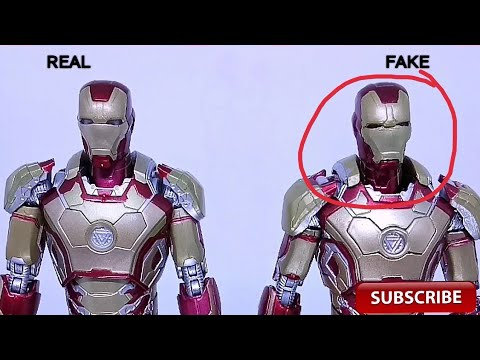[NgoBar] Comparison S H Figuarts (Shf) Ironman Mark 42 Real Vs Bootleg