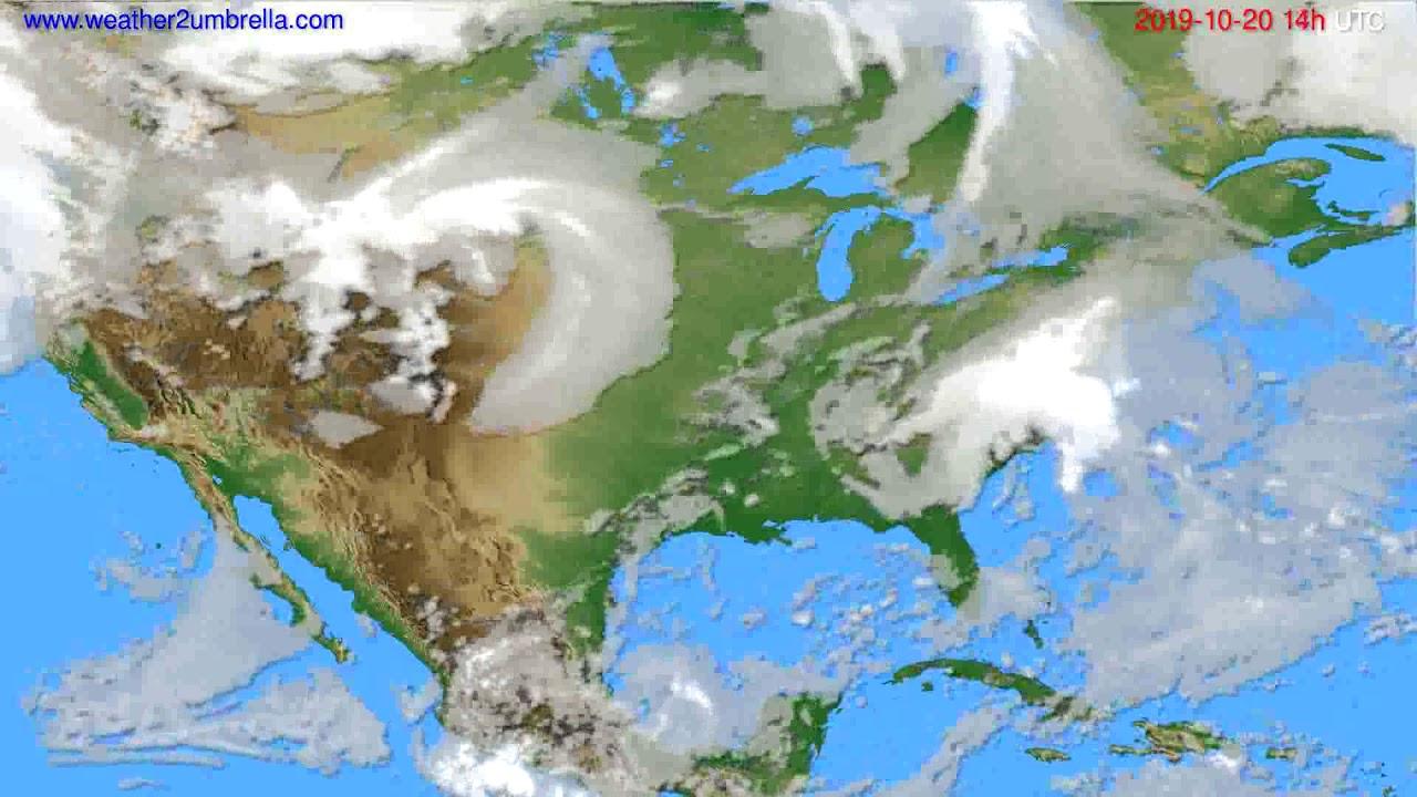Cloud forecast USA & Canada // modelrun: 12h UTC 2019-10-18