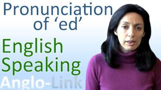Pronunciation of ed, English Speaking Lesson