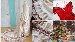 "It was a productive week! I finished my Christmas Costume, made some MAJOR progress on my 1880's evening gown, started on something new, and planned my projects for the beginning of 2017! Missed last weeks progress log? Check out the playlist here: https://www.youtube.com/playlist?list=PLk1yJujskxaCHy-iWxPaRTLLRboj7HF7oThings mentioned: Christmas Costume (videos): https://www.youtube.com/watch?v=X-Hil2HRSlUhttps://www.youtube.com/watch?v=Cw1EPmXgZ48Christmas Costume construction notes: https://doxiequeen1.wordpress.com/2016/12/18/making-a-draped-velvet-dress/Christmas Costume Photos: https://doxiequeen1.wordpress.com/2016/12/18/draped-velvet-dress-photos/Fashion Plate: http://bartoscollection.com/images/303_1898_FashionPlate_07.jpgYou can see the books i'm referencing in my review post!: https://doxiequeen1.wordpress.com/2016/11/22/historical-costume-reference-book-reviews/For more information on my planning/shopping process, checkout my ""Guide to The Garment District"" video: https://www.youtube.com/watch?v=13kxxq7f6g4Construction notes on my 1880's dress should be up soon on my wordpress site, I'm just behind when it comes to blogging! ...If you are interested in seeing more of my work or contacting me, I'll leave links to my various sites below!Tumblr: http://doxiequeen1.tumblr.com/Blog: https://doxiequeen1.wordpress.comInstagram: https://www.instagram.com/angelacostumeryPortfolio: http://angelaclayton.crevado.com/Email: AngelaCostumery@gmail.com [serious inquires only please!]...FREQUENTLY ASKED QUESTIONS: Video: https://www.youtube.com/watch?v=v11BCwg8nyAPage: http://doxiequeen1.tumblr.com/FAQ..."