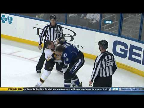 Shawn Thornton fights Keith Aulie w/SlowMo 3/8/14