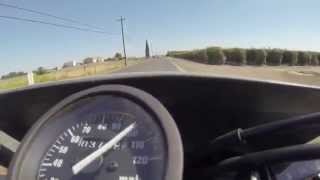 4. Suzuki DR650 120mph Top speed run-Fail