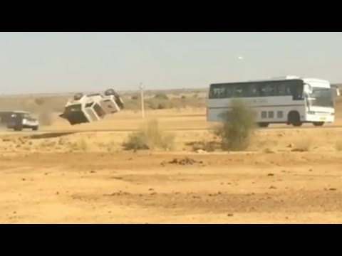 Police Car accident | filmy style | Taskar Ka phicha krte hue | Rush drive cars