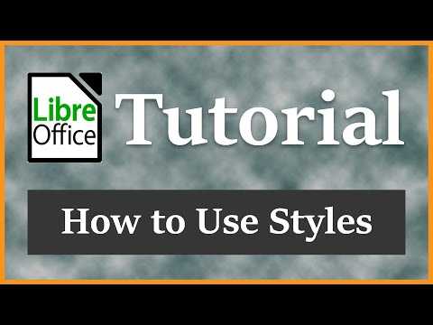 How To Use Styles Crash Course | LibreOffice Writer 5.1.3 Tutorial