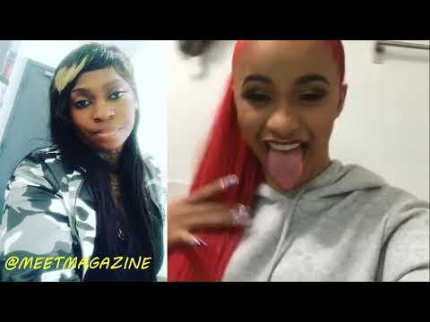 Cardi B Fight Vs  La Chat Over BICKENHEAD Song! Chicken Head Remix Is Loved By Project Pat! #LHHNY
