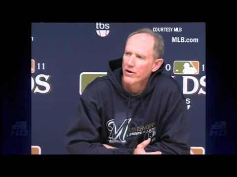 Roenicke - Milwaukee Brewers NLDS Game 1 starting pitcher Yovani Gallardo and manager Ron Roenicke sat down with the media to discuss the upcoming NLDS against the Ariz...