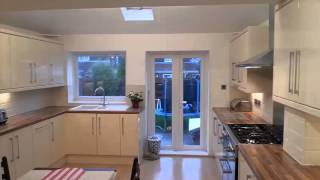Video Of a Full ground Floor Kitchen & Storage Extension Black moor Drive west Derby .