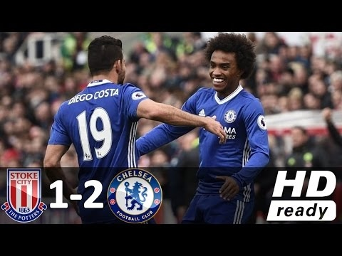 Stoke City vs Chelsea 1-2 - All Goals and Highlights - Premier League 2017 HD