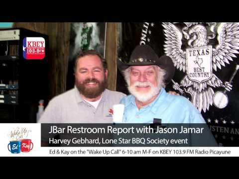 "Our tummies were grumbling after Jason Jamar's ""J Bar Restroom Report."" He brought along Harvey Gebhard of the Lonestar BBQ Society, who filled us in on the upcoming Cooker of the Year cook-off."