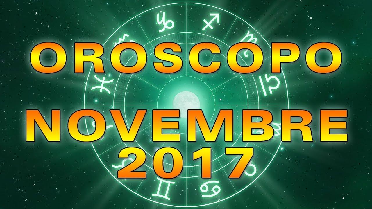 L'OROSCOPO del MESE ★ Novembre 2017